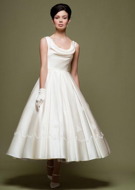 1950s vintage wedding dresses for Satin cowl neck wedding dress