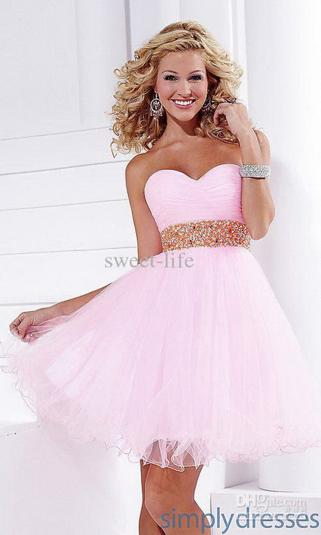 ... Strapless Sequined Pink Long Middle School Graduation Dress Designs