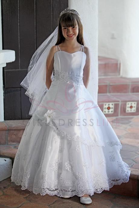 rhinestone adorned trim first communion dress communion dresses