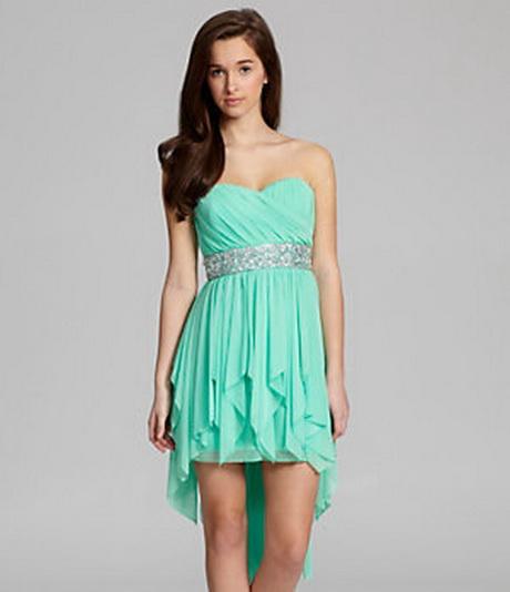 Sequin Hearts Strapless Beaded Hi-Low Dress | Dillard's Mobile