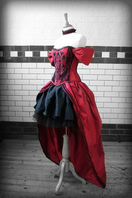 Gothic victorian dresses red