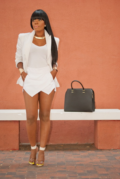 White blazers, LWD's (little white dresses) and rompers are three popular summer fashion trends. Choose any of these three pieces as the main part of your all white outfit. Choose any of these three pieces as the main part of your all white outfit.