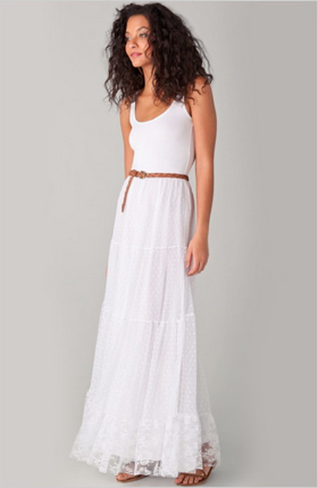 All White Maxi Dresses