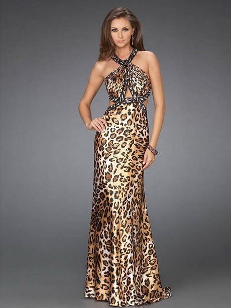леопардовае платье в пол фото - Мода