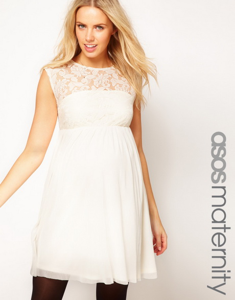 in any one of these dresses asos maternity lace and mesh skater dress
