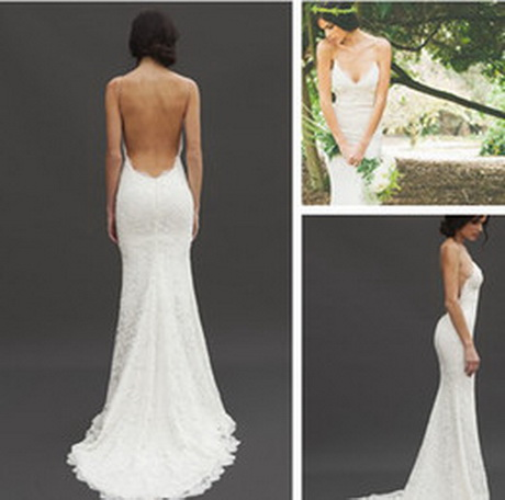 Backless beach wedding dresses for Backless beach wedding dresses
