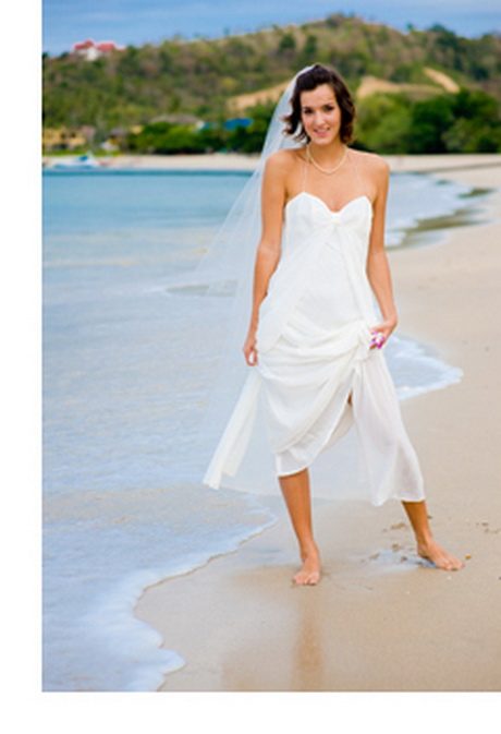 Beach informal wedding dresses for Wedding dresses casual beach