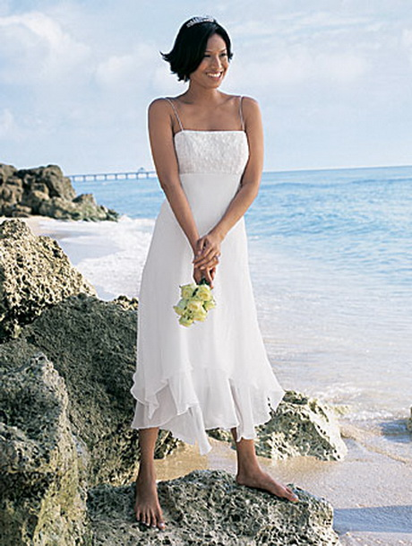 Beach short wedding dresses for Short beach style wedding dresses