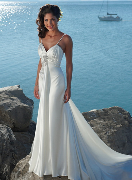 Beach theme wedding dresses high cut wedding dresses for Ocean themed wedding dress