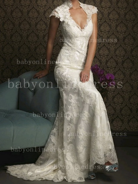 Beach wedding dress lace for Lace beach wedding dresses