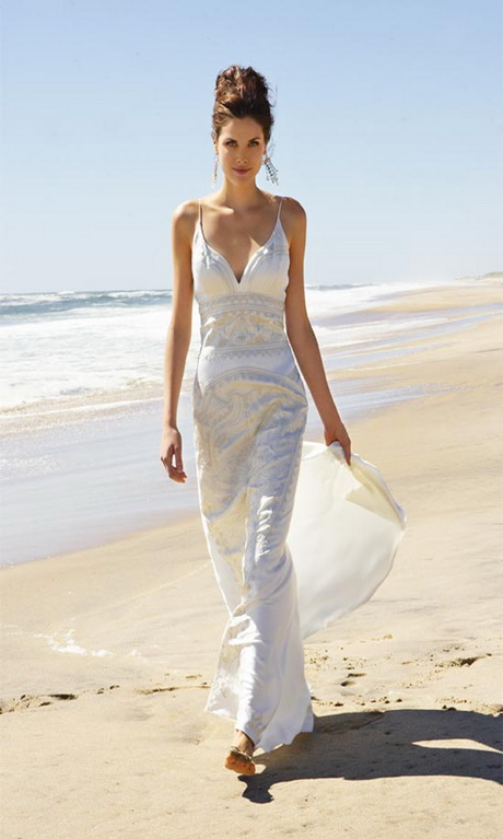 Beach wedding dresses casual for Casual outdoor wedding dresses