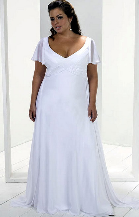 Beach wedding dresses plus size for Wedding vow renewal dresses plus size
