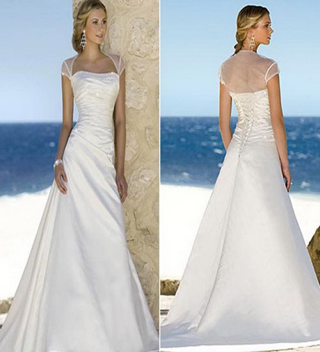Beach wedding dresses simple for Simple wedding dresses for beach weddings