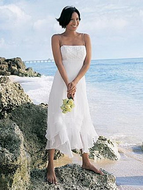 Beach Wedding Dresses Tea Length