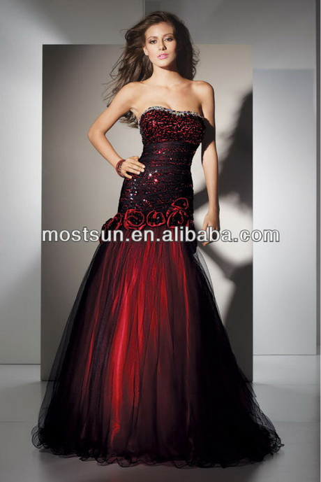 Black and red wedding dresses for Red and black wedding dresses