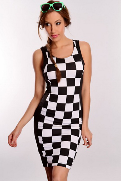 The Lulus Check Me Out Black and White Checkered Boucle Dress will have 'em doing a double take! Checkered, black and white boucle knit shapes this classic dress with a darted, sleeveless bodice, fitted waist, and A-line mini skirt/5(13).