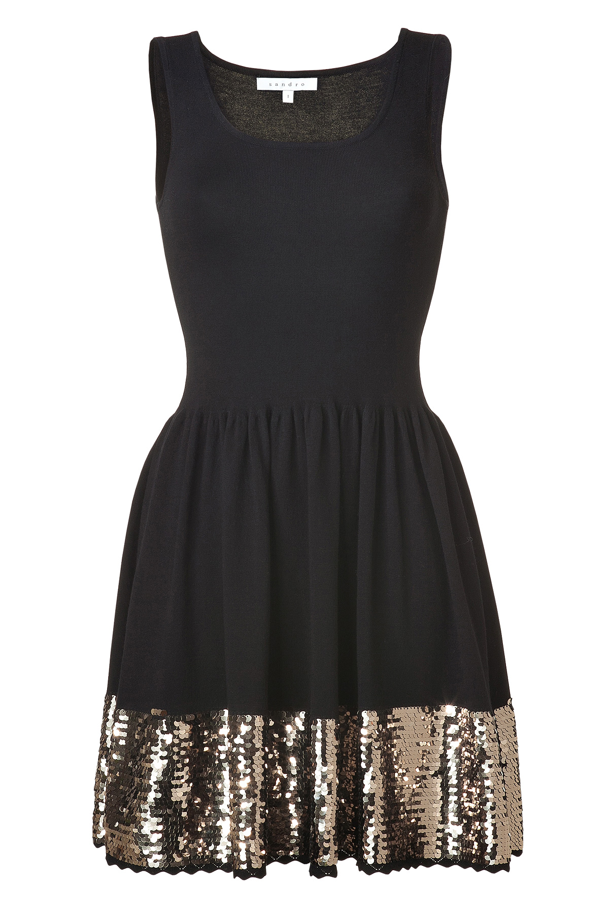 Stylebop Sandro Black with gold sequins Bridesmaids Dress