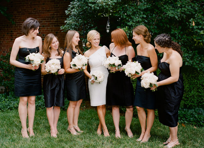 Short Black Bridesmaids Dresses
