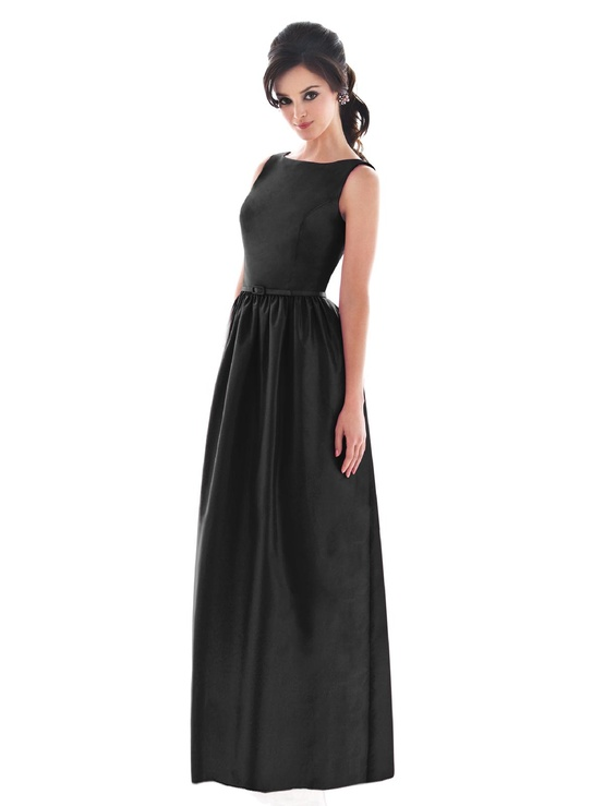 Dessy Full Length Bateau Neck Bridesmaids Dress