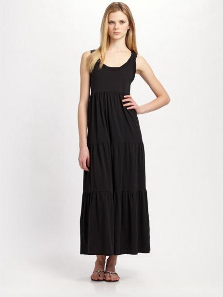 Fashion week Cotton black maxi dresses for woman
