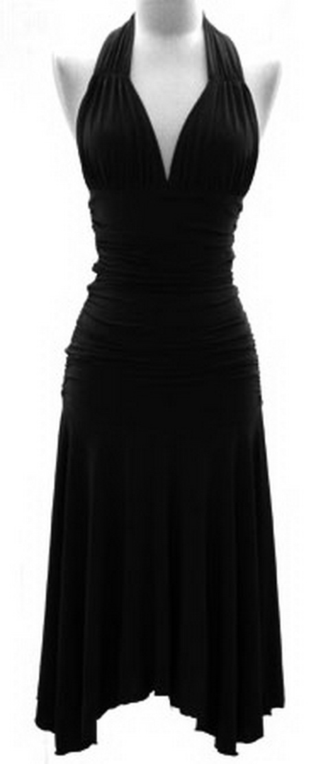 Black Halter Cocktail Dress