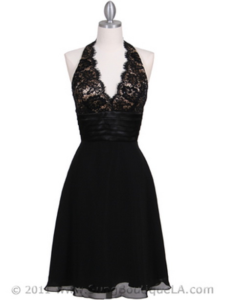 Black halter cocktail dress for Wedding dress boutiques los angeles