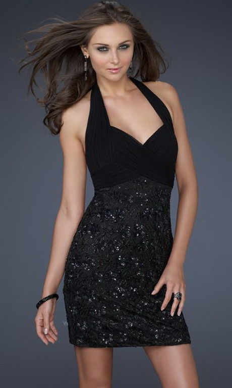 Long Satin and Lace Halter-Top Prom Dress-PromGirl  |Halter Cocktail Dresses