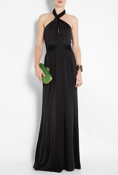 Black Halter Neck Maxi Dresses