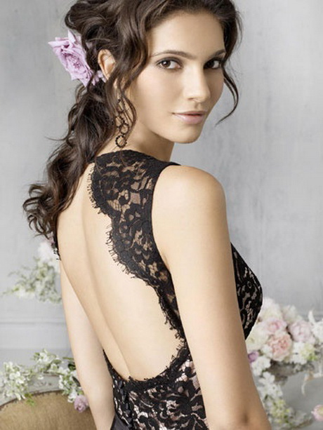 Black lace wedding dress for Black lace wedding dresses