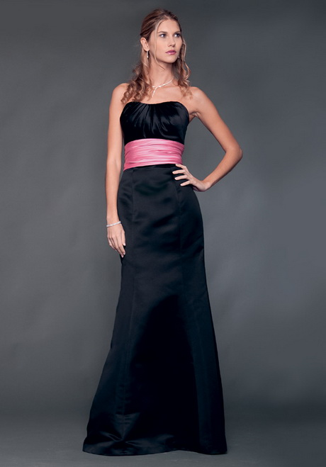 Tags  Assortment of Pink and Black Color Dresses for Bridals    Baby Pink And Black Bridesmaid Dresses