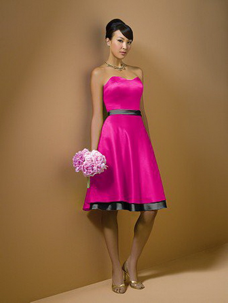 Black and pink bridesmaid dresses for Black and pink wedding dress