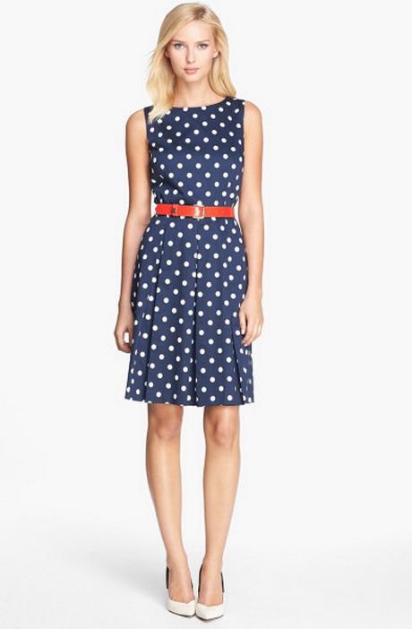 Blue And White Polka Dot Dress