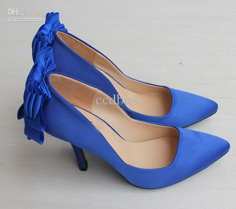 blue high heels wedding