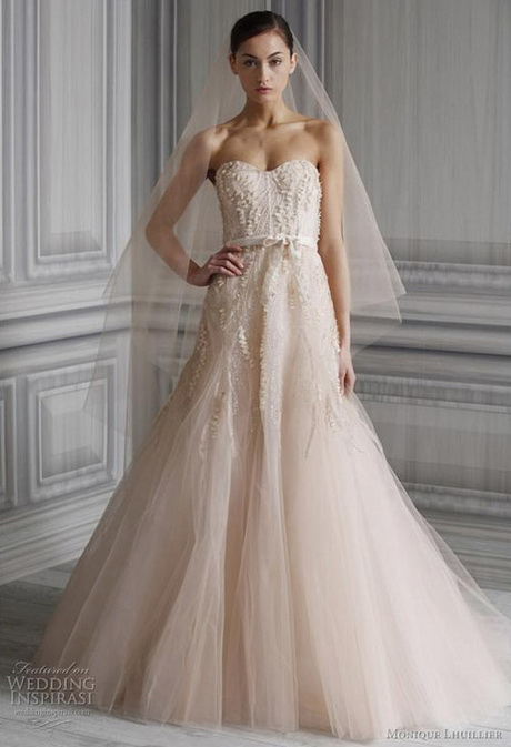 Blush Wedding Dresses Colored Bridal Gowns Colored Wedding Dresses