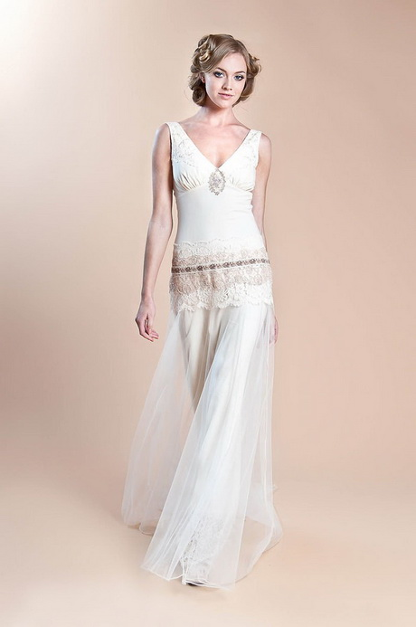 Boho vintage wedding dresses Hippie vintage wedding dresses