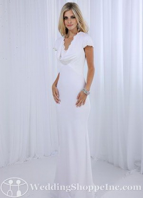 Appropriate bridal dresses for second wedding high cut for Appropriate wedding dresses for second marriage
