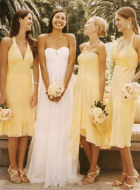 Same Color Different Style Bridesmaid Dresses 99