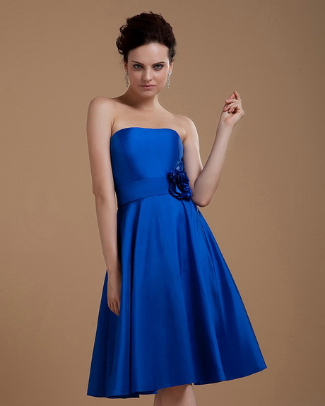 Bridesmaid dresses royal blue for Royal blue short wedding dresses
