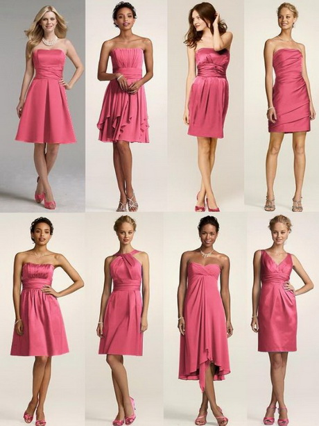 Bridesmaid Dresses Same Color Different Style