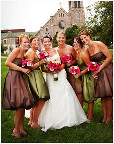wedding trends different color bridesmaid dresses for fall weddings