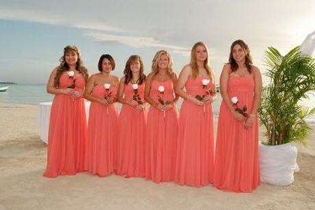 Bridesmaid dresses for beach wedding for Coral bridesmaid dresses for beach wedding