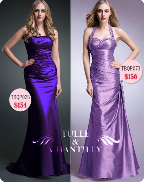 Bright Purple Bridesmaid Dresses