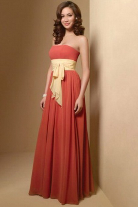 Burnt orange bridesmaid dress