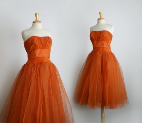 Burnt Orange Cocktail Dresses