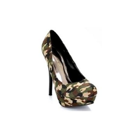 camouflage high heels