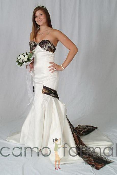 Camouflage bridesmaid dresses