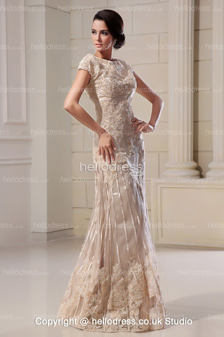 Champagne lace wedding dress for Wedding dress champagne lace