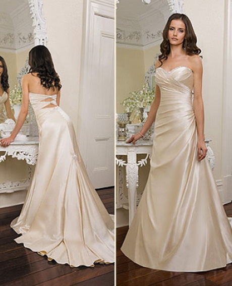 Champagne colored wedding dresses