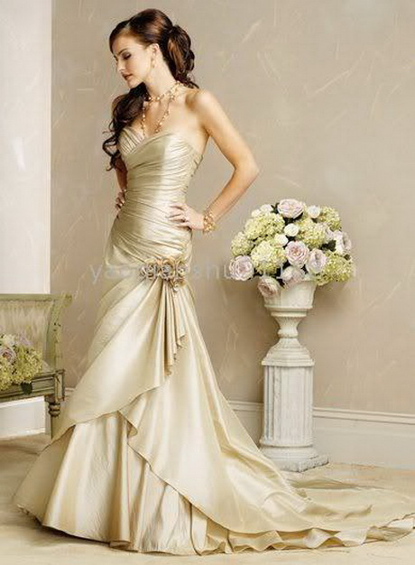 Champagne colored wedding dresses for Champagne color wedding dresses