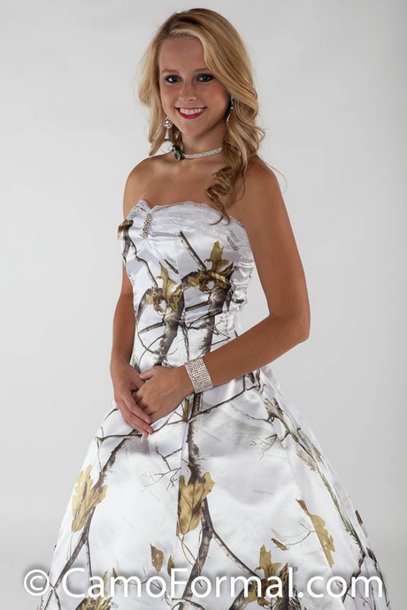 Cheap camo prom dresses for Snow camo wedding dresses